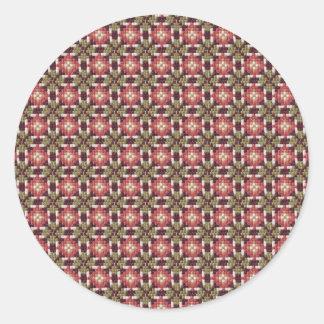 Retro embroidery classic round sticker