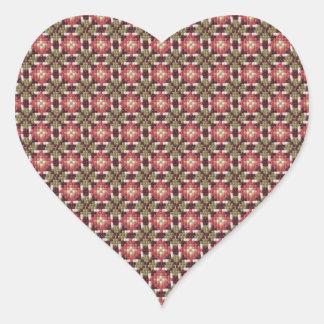 Retro embroidery heart sticker