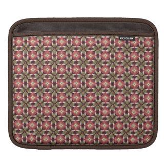 Retro embroidery iPad sleeve