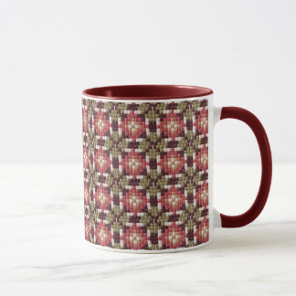 Retro embroidery mug