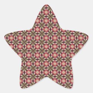 Retro embroidery star sticker