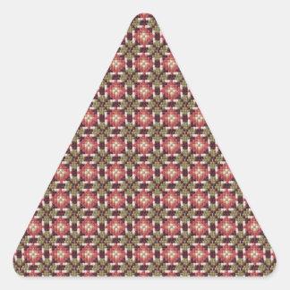 Retro embroidery triangle sticker