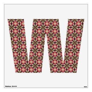 Retro embroidery W Wall Sticker