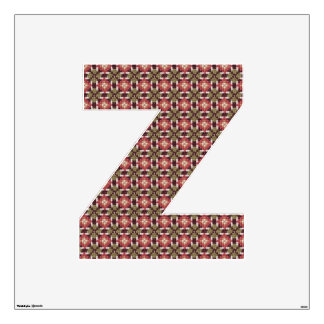 Retro embroidery Z Wall Decal