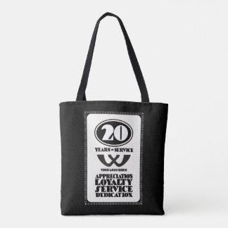 Retro employee 20 year service award tote bag