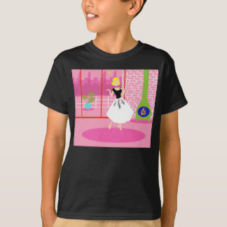 Retro en la camiseta rosada playera