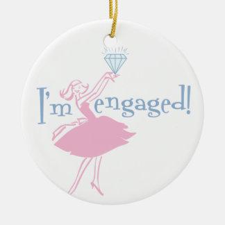 Retro Engaged Ornament