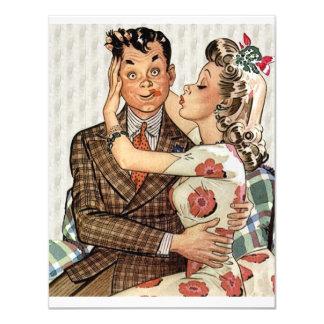 Retro Engagement Dinner 4.25x5.5 Paper Invitation Card