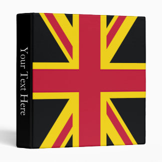 Retro England Flag Black Red Yellow Binder
