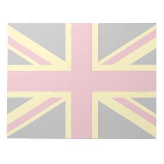 Retro England Flag Black Red Yellow Notepad