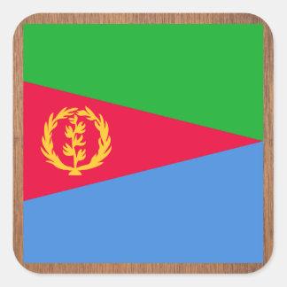 Retro Eritrea Flag Square Sticker