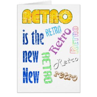 Retro es el nuevo nuevo tarjetas