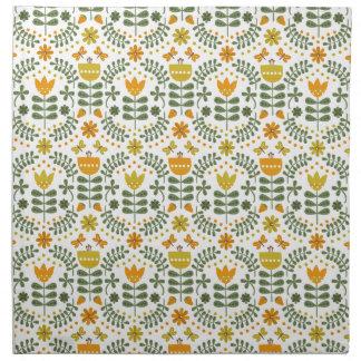 Retro European Flowers Cloth Napkin