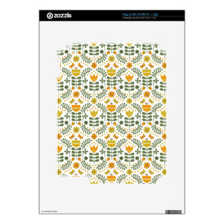Retro European Flowers Decals For The iPad 2