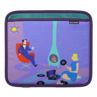 Retro Evening at Home iPad Sleeve