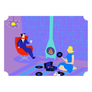Retro Evening at Home Party Invitations
