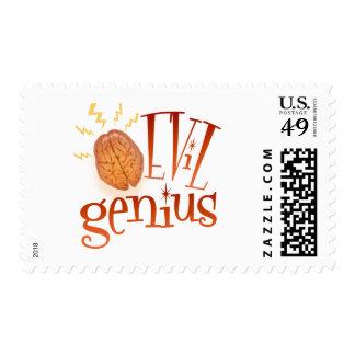 Retro Evil Genius Postage Stamps