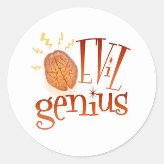 Retro Evil Genius Stickers