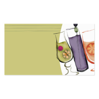 retro exotic drinks party planner bartender busine business card