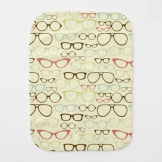 Retro Eyeglass Hipster Burp Cloth