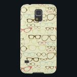 "Retro Eyeglass Hipster Case For Galaxy S5<br><div class=""desc"">This is an awesome eyeglass hipster pattern that makes the perfect gift.</div>"