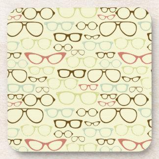 Retro Eyeglass Hipster Drink Coaster