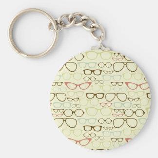 Retro Eyeglass Hipster Keychain