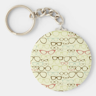 Retro Eyeglass Hipster Key Chain