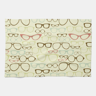 Retro Eyeglass Hipster Towels