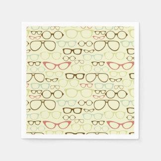 Retro Eyeglass Hipster Paper Napkin
