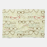 Retro Eyeglass Hipster Towels