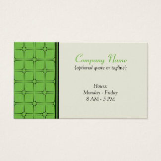 Retro Fab Business Card, Bright Green Business Card