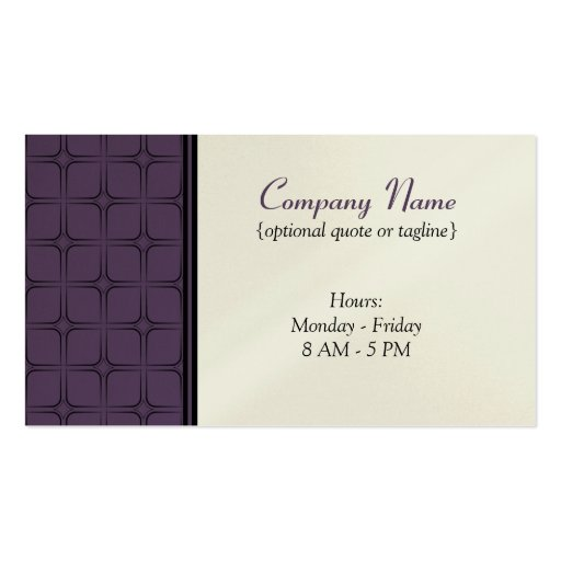 Retro Fab Business Card, Plum Double-Sided Standard Business Cards (Pack Of 100)
