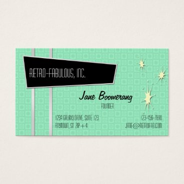 Professional Business Retro-Fabulous Horizontal Business Cards