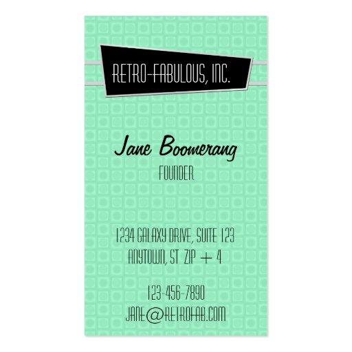 Retro Fabulous Vertical Business Card