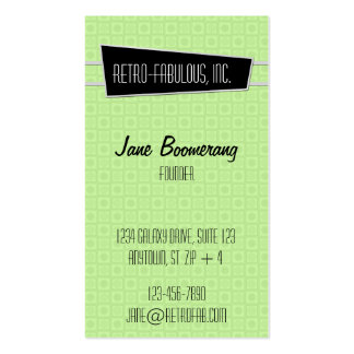 Retro-Fabulous Vertical Business Card