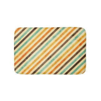 Retro Fade Colors Stripes Pattern Bathroom Mat. Retro Bath Mats   Zazzle