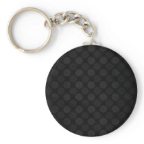 Retro faded black circles pattern keychain