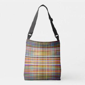 Retro faded lines pattern crossbody bag