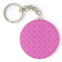 Retro faded pink circles pattern keychain