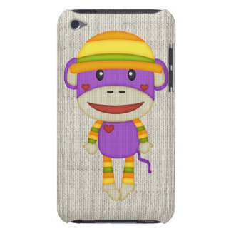 Retro Fall/Autumn Colored Sock Monkey iPod Touch Cases
