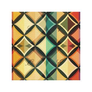 Retro,fall leaf colors,vintage,trendy,pattern,cube canvas print