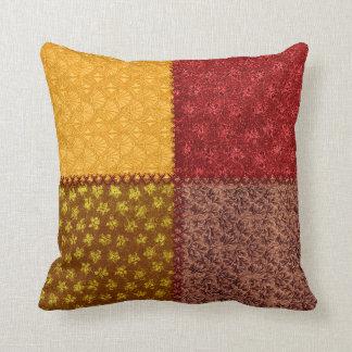 Retro Fall Scrap Patchwork Pillow Throw Pillow