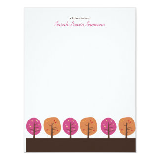 Retro Fall Trees | Flat Note Cards