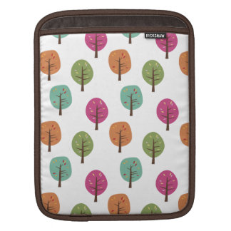 Retro Fall Trees Pattern Sleeve For iPads