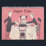 """Retro Family Calendar<br><div class=""""desc"""">Retro House wife cooking calendar</div>"""