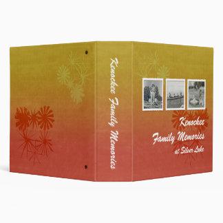 Retro Family Memories (burnt orange floral) Binder