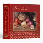 Retro Family Recipe Binder