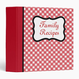 Retro Family Recipe Organizer Binder Gift