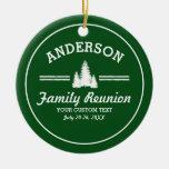 Retro Family Reunion or Trip | Rustic Pine Trees Ceramic Ornament